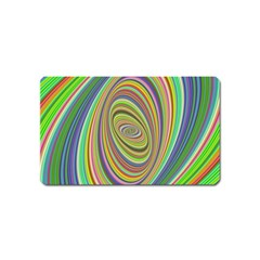 Ellipse Background Elliptical Magnet (name Card)