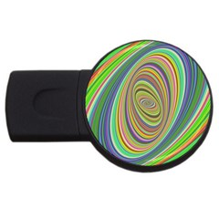 Ellipse Background Elliptical Usb Flash Drive Round (2 Gb)