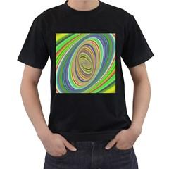 Ellipse Background Elliptical Men s T Shirt (black) (two Sided)