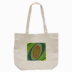 Ellipse Background Elliptical Tote Bag (cream)