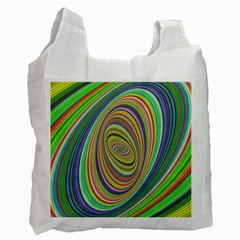 Ellipse Background Elliptical Recycle Bag (two Side)