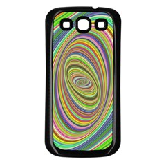 Ellipse Background Elliptical Samsung Galaxy S3 Back Case (black)