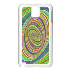 Ellipse Background Elliptical Samsung Galaxy Note 3 N9005 Case (white)