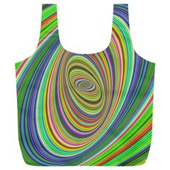 Ellipse Background Elliptical Full Print Recycle Bags (l)