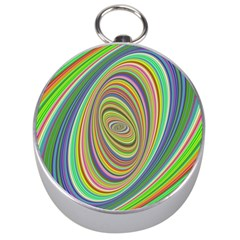 Ellipse Background Elliptical Silver Compasses