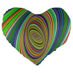 Ellipse Background Elliptical Large 19  Premium Flano Heart Shape Cushions