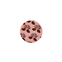 Chocolate Background Floral Pattern 1  Mini Magnets