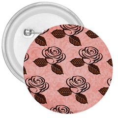 Chocolate Background Floral Pattern 3  Buttons