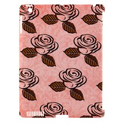 Chocolate Background Floral Pattern Apple Ipad 3/4 Hardshell Case (compatible With Smart Cover)