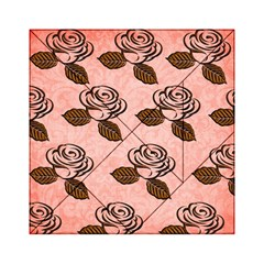 Chocolate Background Floral Pattern Acrylic Tangram Puzzle (6  X 6 )