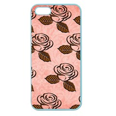 Chocolate Background Floral Pattern Apple Seamless Iphone 5 Case (color)
