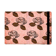 Chocolate Background Floral Pattern Apple Ipad Mini Flip Case