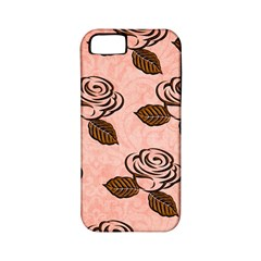 Chocolate Background Floral Pattern Apple Iphone 5 Classic Hardshell Case (pc+silicone)