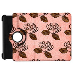 Chocolate Background Floral Pattern Kindle Fire Hd 7