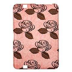 Chocolate Background Floral Pattern Kindle Fire Hd 8 9