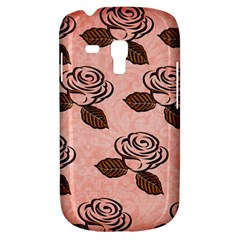 Chocolate Background Floral Pattern Galaxy S3 Mini
