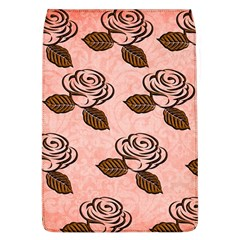 Chocolate Background Floral Pattern Flap Covers (l)