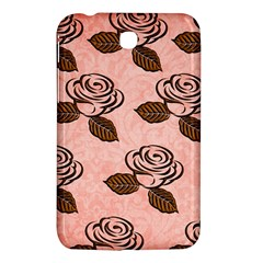 Chocolate Background Floral Pattern Samsung Galaxy Tab 3 (7 ) P3200 Hardshell Case