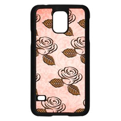 Chocolate Background Floral Pattern Samsung Galaxy S5 Case (black)