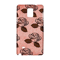 Chocolate Background Floral Pattern Samsung Galaxy Note 4 Hardshell Case