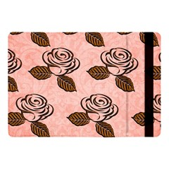 Chocolate Background Floral Pattern Apple Ipad Pro 10 5   Flip Case