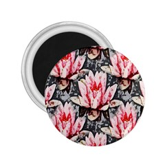 Water Lily Background Pattern 2 25  Magnets