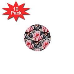 Water Lily Background Pattern 1  Mini Buttons (10 Pack)