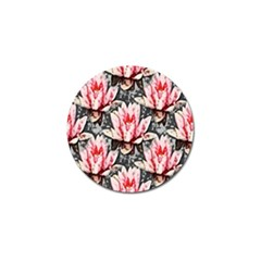 Water Lily Background Pattern Golf Ball Marker