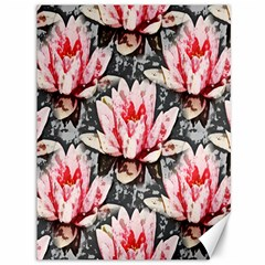 Water Lily Background Pattern Canvas 36  X 48