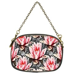 Water Lily Background Pattern Chain Purses (one Side)