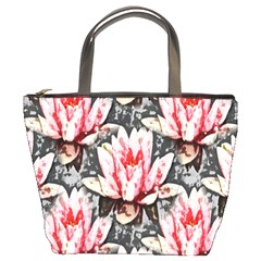 Water Lily Background Pattern Bucket Bags