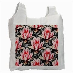 Water Lily Background Pattern Recycle Bag (one Side)