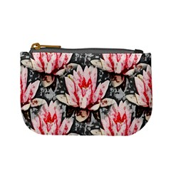 Water Lily Background Pattern Mini Coin Purses