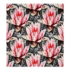 Water Lily Background Pattern Shower Curtain 66  X 72  (large)