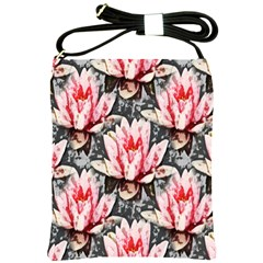 Water Lily Background Pattern Shoulder Sling Bags
