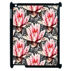 Water Lily Background Pattern Apple Ipad 2 Case (black)