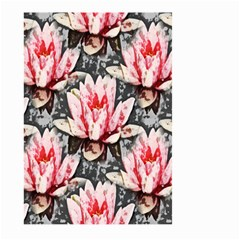 Water Lily Background Pattern Large Garden Flag (two Sides)