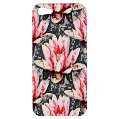 Water Lily Background Pattern Apple Iphone 5 Hardshell Case
