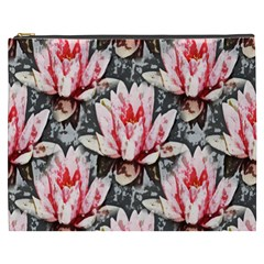 Water Lily Background Pattern Cosmetic Bag (xxxl)