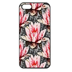 Water Lily Background Pattern Apple Iphone 5 Seamless Case (black)