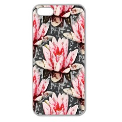 Water Lily Background Pattern Apple Seamless Iphone 5 Case (clear)