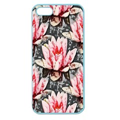 Water Lily Background Pattern Apple Seamless Iphone 5 Case (color)