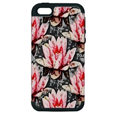 Water Lily Background Pattern Apple Iphone 5 Hardshell Case (pc+silicone)