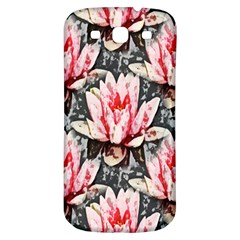 Water Lily Background Pattern Samsung Galaxy S3 S Iii Classic Hardshell Back Case