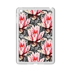 Water Lily Background Pattern Ipad Mini 2 Enamel Coated Cases