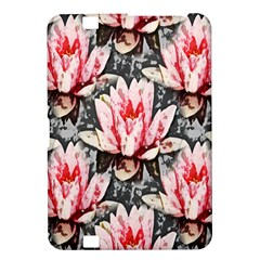 Water Lily Background Pattern Kindle Fire Hd 8 9