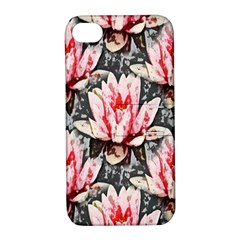 Water Lily Background Pattern Apple Iphone 4/4s Hardshell Case With Stand
