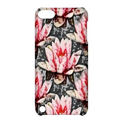 Water Lily Background Pattern Apple Ipod Touch 5 Hardshell Case With Stand