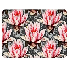 Water Lily Background Pattern Samsung Galaxy Tab 7  P1000 Flip Case