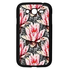 Water Lily Background Pattern Samsung Galaxy Grand Duos I9082 Case (black)